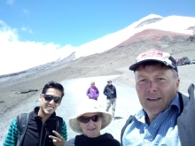 Cotopaxi trail pic with guide